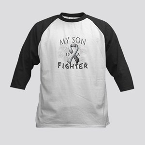 My Son Is A Fighter Kids Baseball Jersey