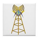 Masonic Ham Tower Tile Coaster