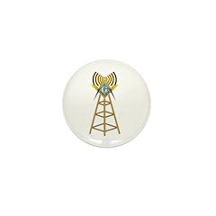 Masonic Ham Tower Mini Button (10 pack)