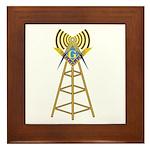 Masonic Ham Tower Framed Tile