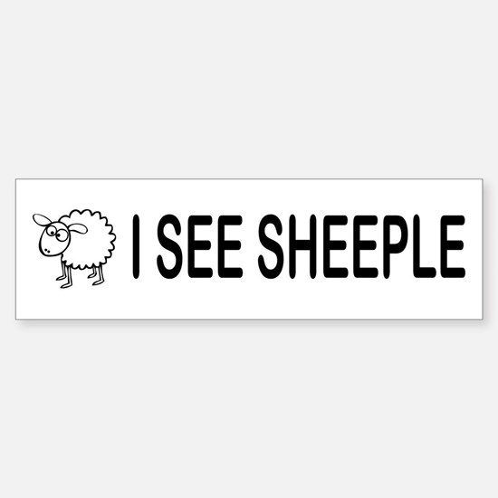 I See Sheeple Sticker (Bumper)