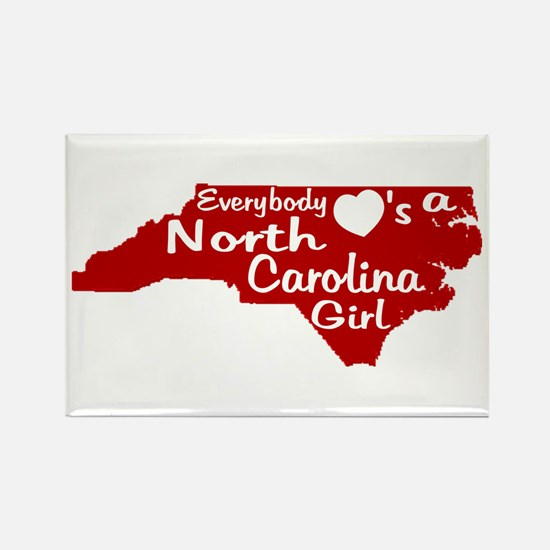 Everybody Loves a NC Girl (Re Rectangle Magnet