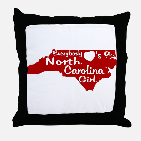 Everybody Loves a NC Girl (Re Throw Pillow