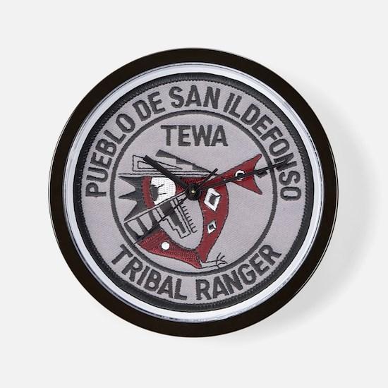 San Ildefonso Tribal Ranger Wall Clock