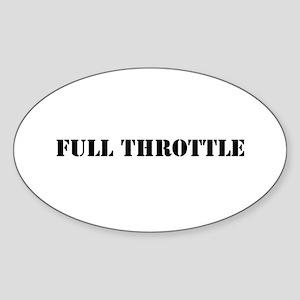 Full Throttle Sticker (Oval)