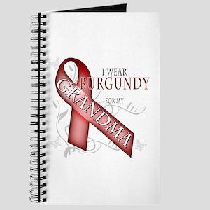 I Wear Burgundy for my Grandma Journal