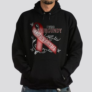 I Wear Burgundy for my Grandma Hoodie (dark)