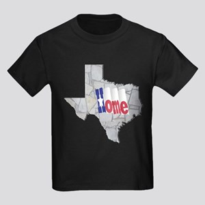 TX-Home-Limestone Kids Dark T-Shirt