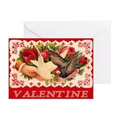 Blank Lovebirds Greeting Cards (Pk of 10)