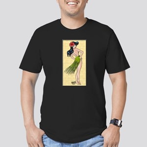 Hula Gal Men's Fitted T-Shirt (dark)