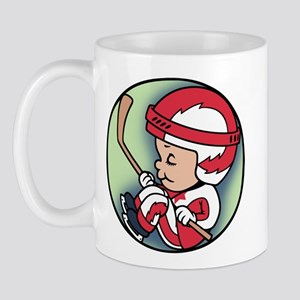 Hockey Player Inside Mug