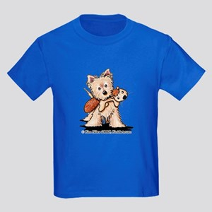 Cairn w/ Chipmunk Toy Kids Dark T-Shirt