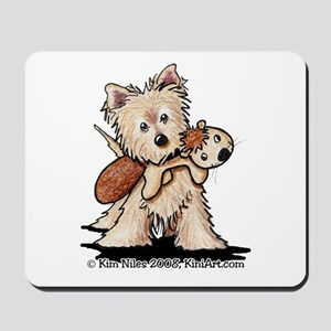Cairn w/ Chipmunk Toy Mousepad