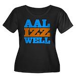 AAL IZZ WELL. Women's Plus Size Scoop Neck Dark T-