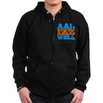 AAL IZZ WELL. Zip Hoodie (dark)