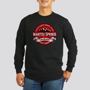Manitou Springs Red Long Sleeve Dark T-Shirt
