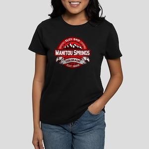 Manitou Springs Red Women's Dark T-Shirt