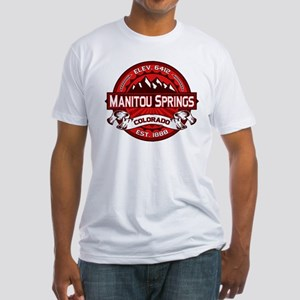 Manitou Springs Red Fitted T-Shirt