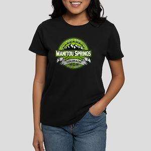 Manitou Springs Green Women's Dark T-Shirt