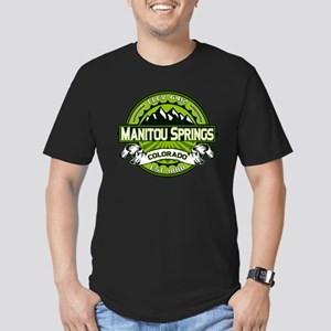 Manitou Springs Green Men's Fitted T-Shirt (dark)