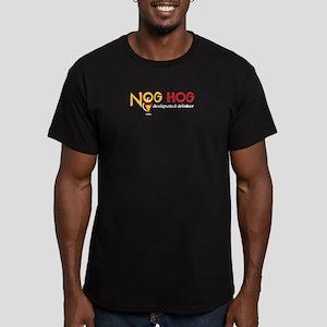 Nog Hog Men's Fitted T-Shirt (dark)