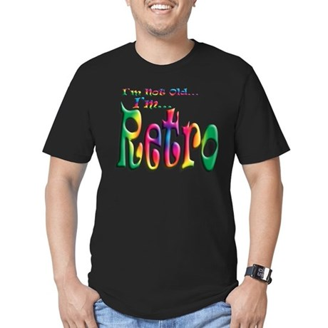 I'm Not Old, I'm Retro Men's Fitted T-Shirt (dark)