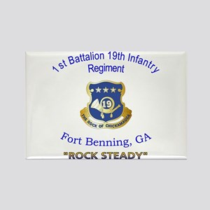 1st Bn 19th Inf Rectangle Magnet