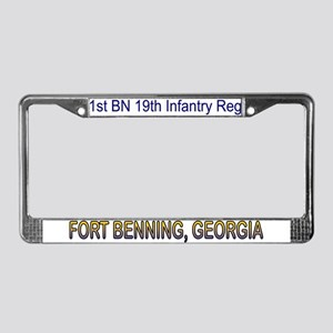 1st Bn 19th Inf License Plate Frame
