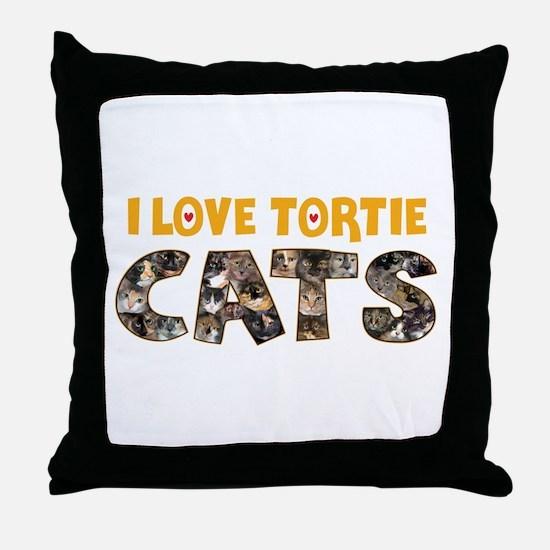 Cute Tortie Throw Pillow