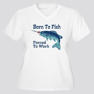 Funny Fishing Women's Plus Size V-Neck T-Shirt