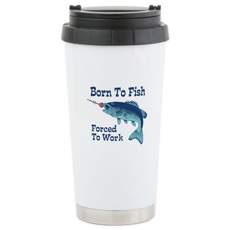 Funny Fishing Stainless Steel Travel Mug