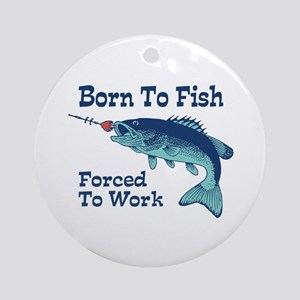 Funny Fishing Ornament (Round)