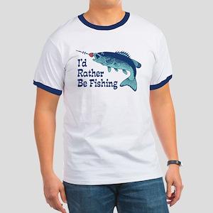 Funny Fishing Ringer T