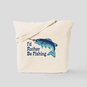 Funny Fishing Tote Bag