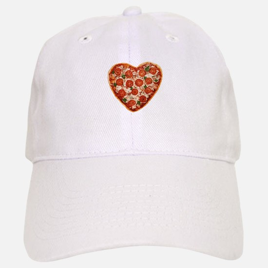heart shaped pizza Baseball Baseball Cap