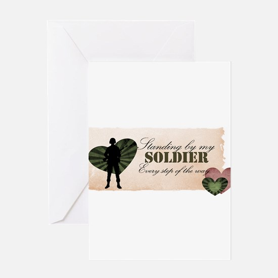 standing by my soldier Greeting Card