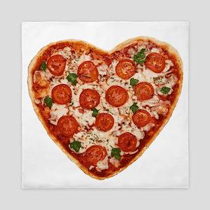 heart shaped pizza Queen Duvet