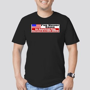 I've Never Seen A Flag Burned Men's Fitted T-Shirt