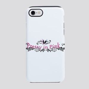 pretty in pink with butterfly iPhone 7 Tough Case