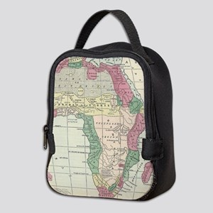 Vintage Map of Africa (1872) Neoprene Lunch Bag