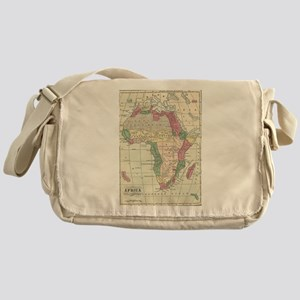 Vintage Map of Africa (1872) Messenger Bag