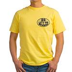 80 Feet Deep Album Cover on Yellow T-Shirt