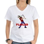 Flailed Women's V-Neck T-Shirt