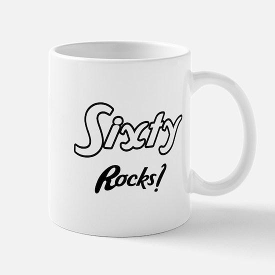 Sixty Rocks Birthday Mug