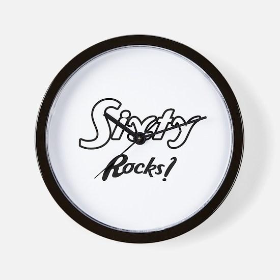 Sixty Rocks Birthday Wall Clock