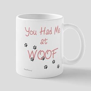 WOOF (pink) Mug