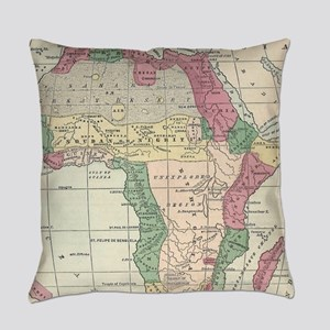 Vintage Map of Africa (1872) Everyday Pillow