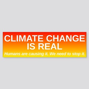 Climate Change is Real Sticker (Bumper)