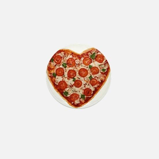 heart shaped pizza Mini Button
