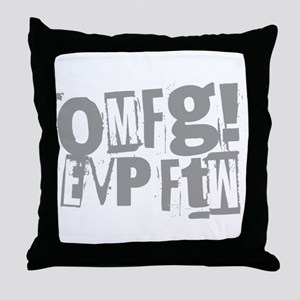 Ghost Hunting EVP Throw Pillow